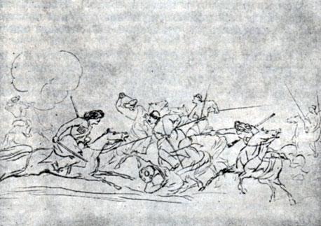 рисунки карандашом бородинское сражение: